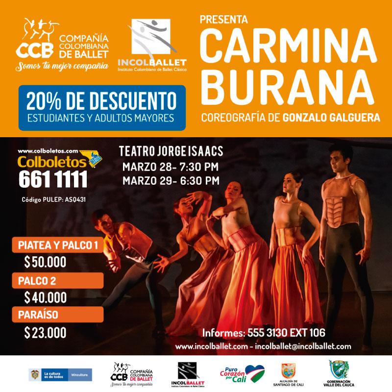 La Compañía Colombiana de Ballet INCOLBALLET presenta Carmina Burana!