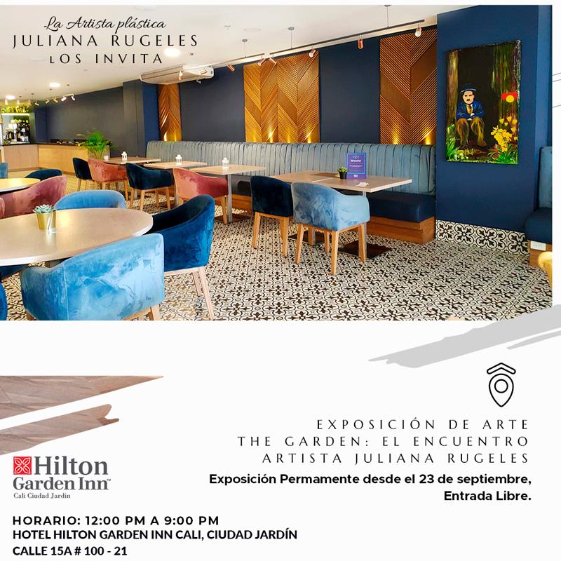 La artista plástica Juliana Rugeles expone sus obras en el Hotel Hilton Garden Inn Cali, Ciudad Jardín